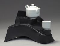 Shelley Schreiber - Pedestal Teapot and Cup