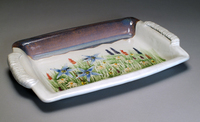 Lynn Hull - Serving Tray with Wildflowers