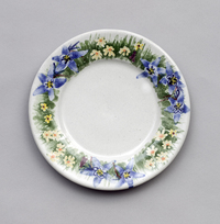 Lynn Hull - Plate with Mountain Flowers