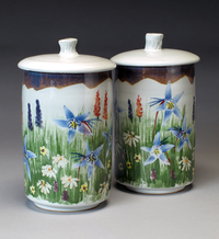 Lynn Hull - Canisters with Wildflowers