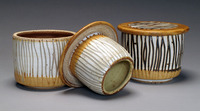 Lynn Hull - French Butter Dishes with Prairie Grasses